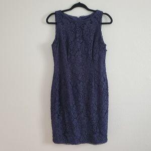 Adrianna Papell Navy Blue Dress 10 Petite